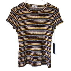Lacausa • Stripe Knit Blouse